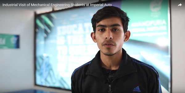 INDUSTRIAL VISIT OF MECHANICAL ENGINEERING AT IMPERIAL AUTO